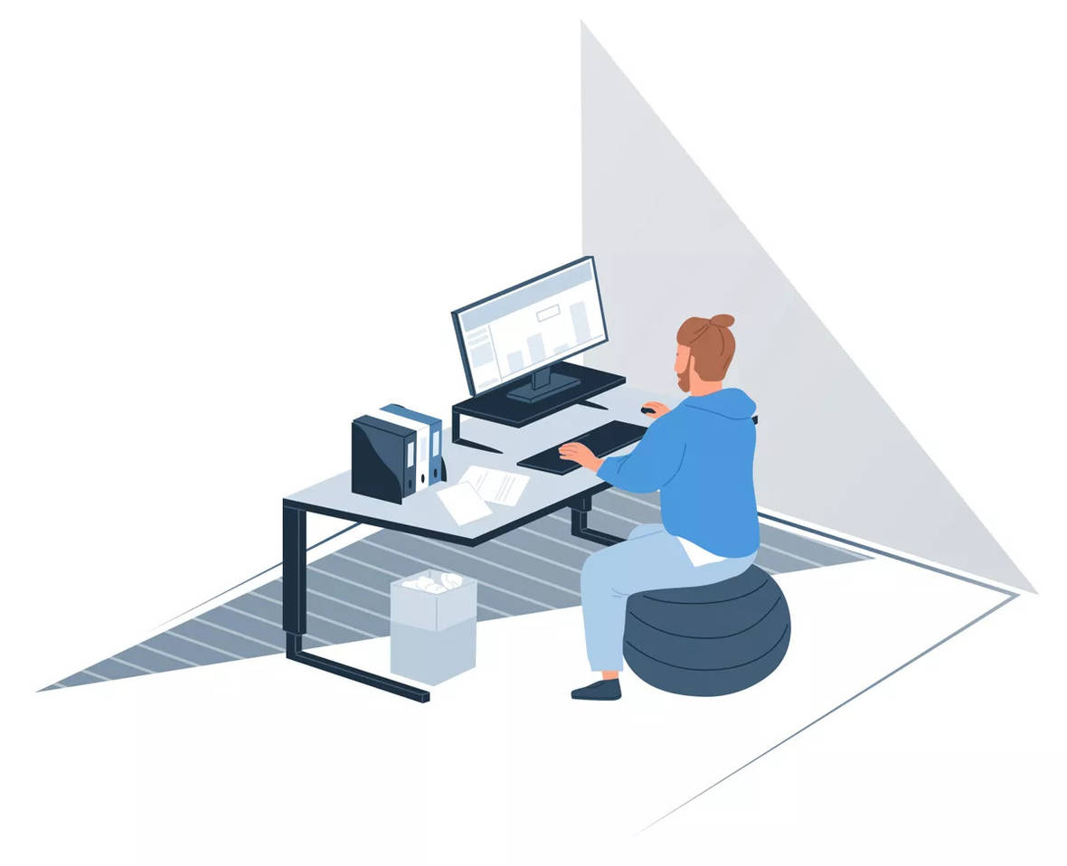 Home office Ergonomic position